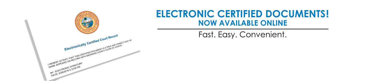 Electronic Certified Documents