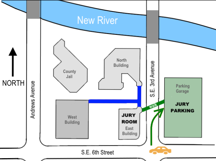 Directions To Parking Garage at 540 SE 3rd Avenue