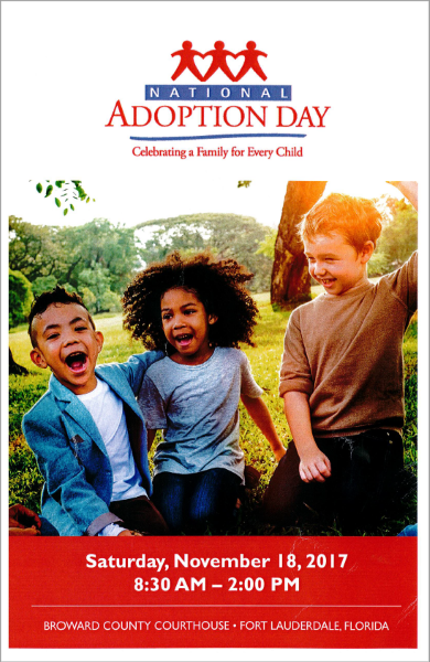 Broward County Clerk Brenda D. Forman participates in National Adoption Day
